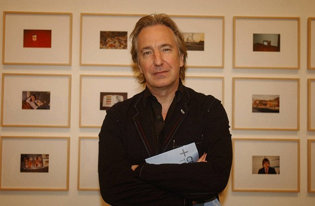 Photographic Exhibition held at Tate Mordern. Pic shows Alan Rickman Picture Steve Waters